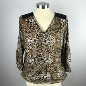 The Limited Womens Small Animal Print Blouse
